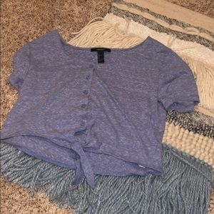 Button down knotted f21 tee